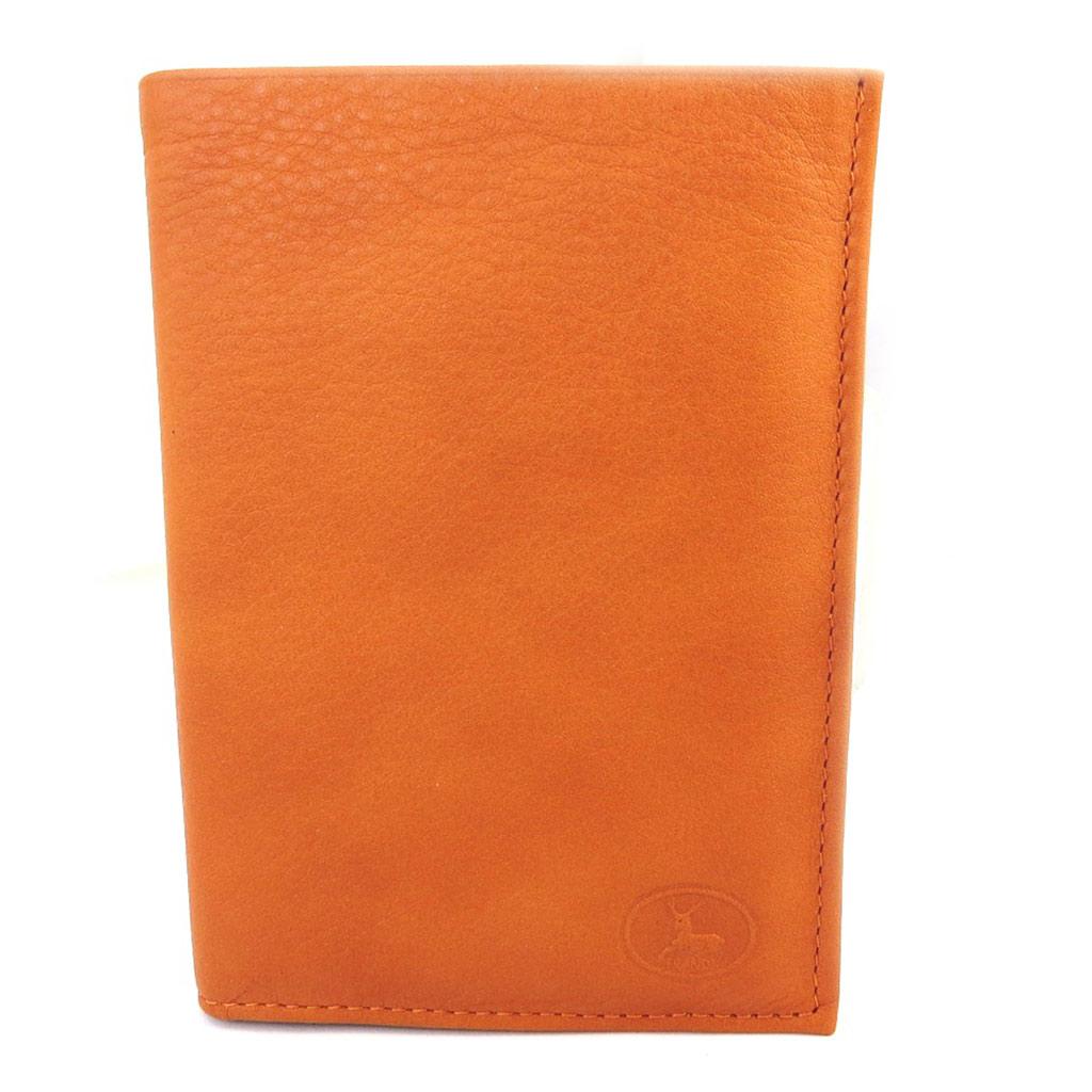 Portefeuille Cuir \'Frandi\' orange sauvage (européen) - [M5590]