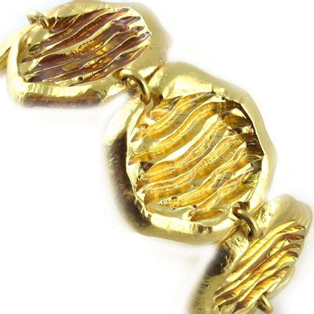 Bracelet Créateur \'Jallia\' Ambre Doré  - [E1586]