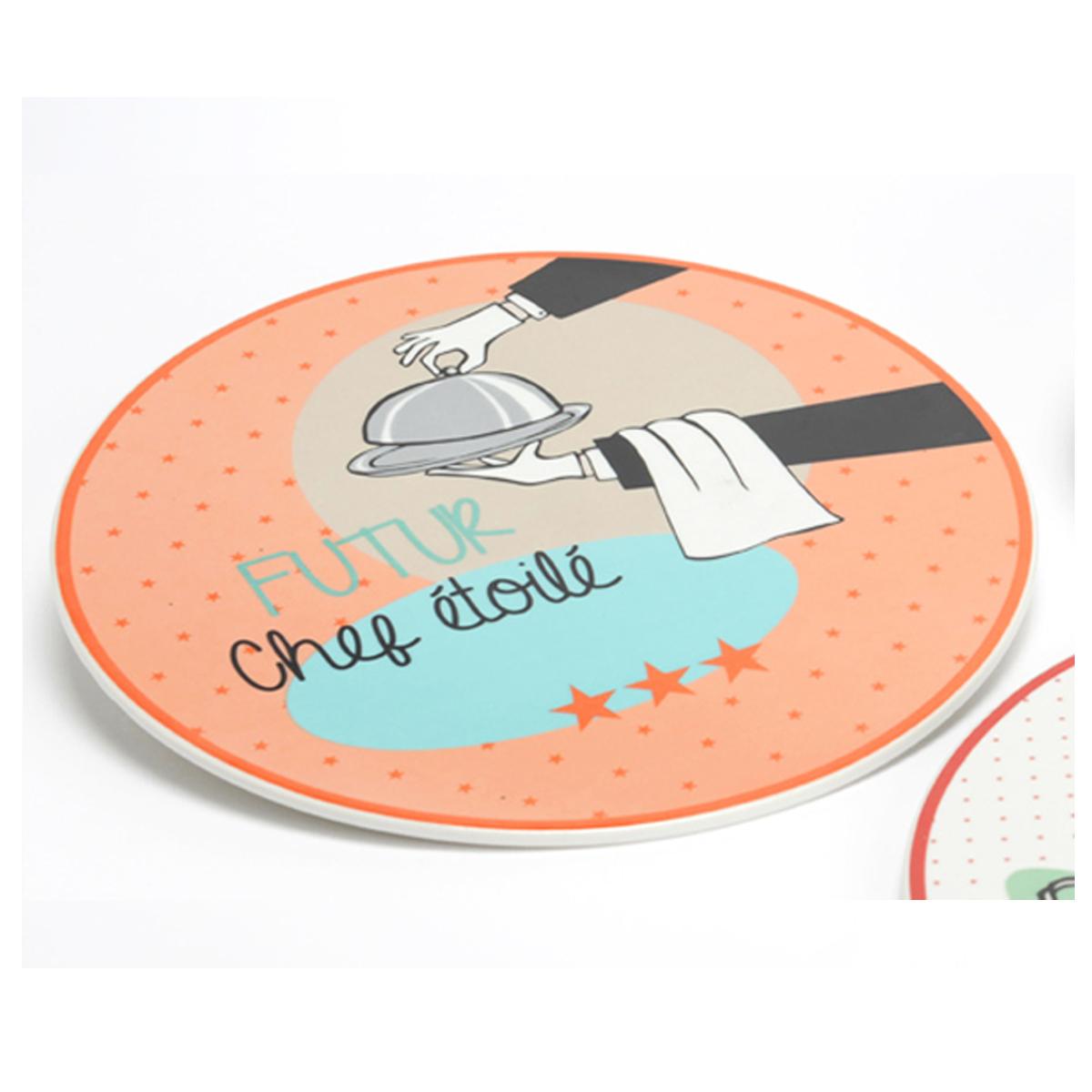 Dessous de plat porcelaine \'Messages\' (Futur Chef Etoilé) - 24 cm - [Q9614]