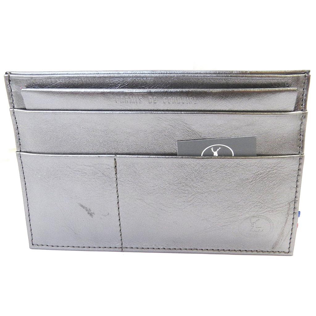 Porte Papiers de voiture Cuir \'Frandi\' argenté (ultra plat) - [M5595]