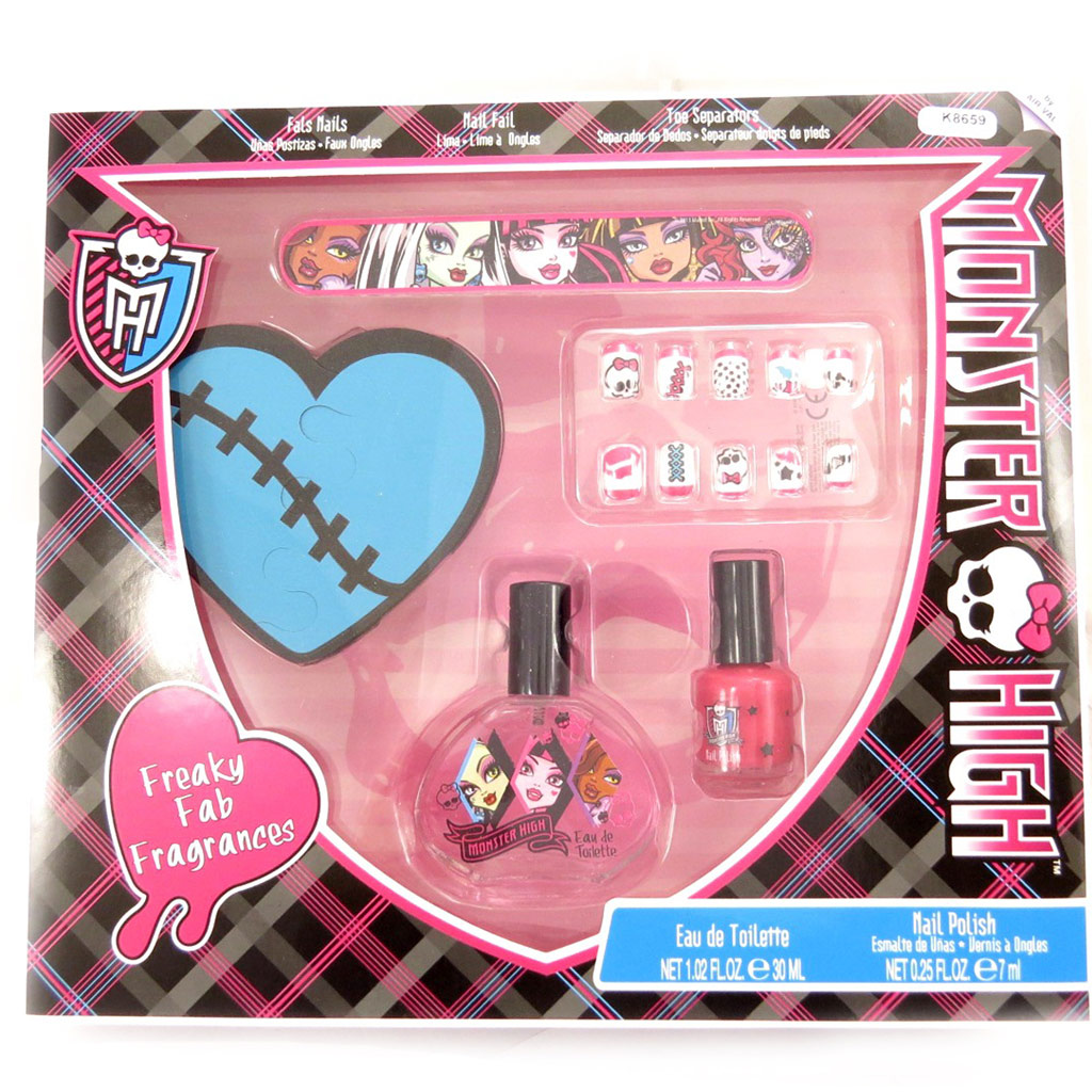 Coffret manucure \'Monster High\' noir rose - [K8659]