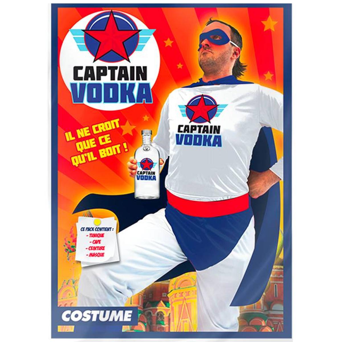 Déguisement \'Captain Vodka\' bleu blanc rouge  - [R2274]