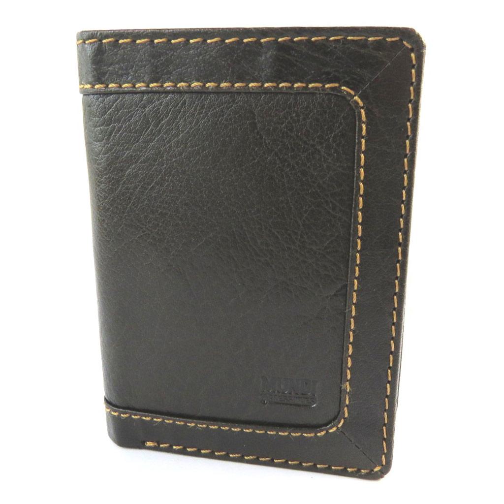 Portefeuille européen cuir \'Mundi\' marron vintage - 125x9x25 cm - [N5812]