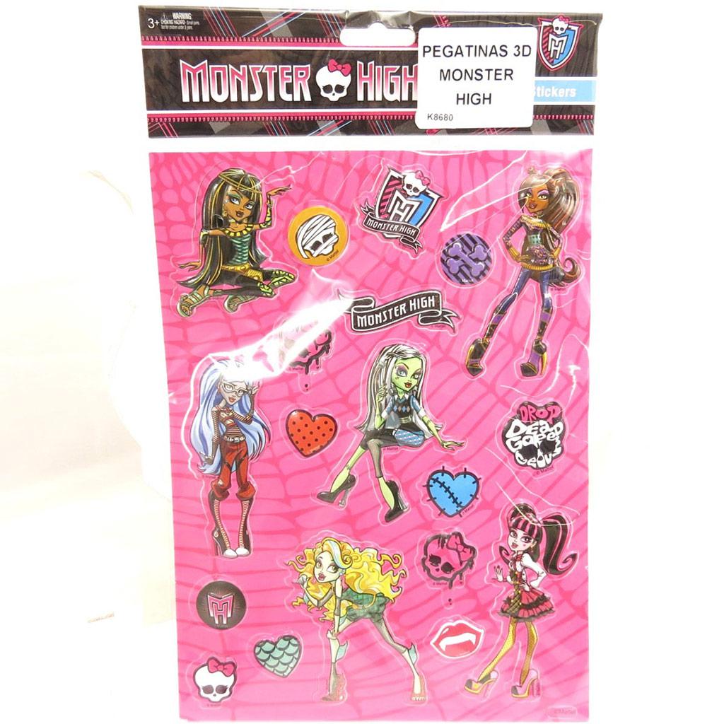 Planche de 20 stickers 3D \'Monster High\'  - [K8680]