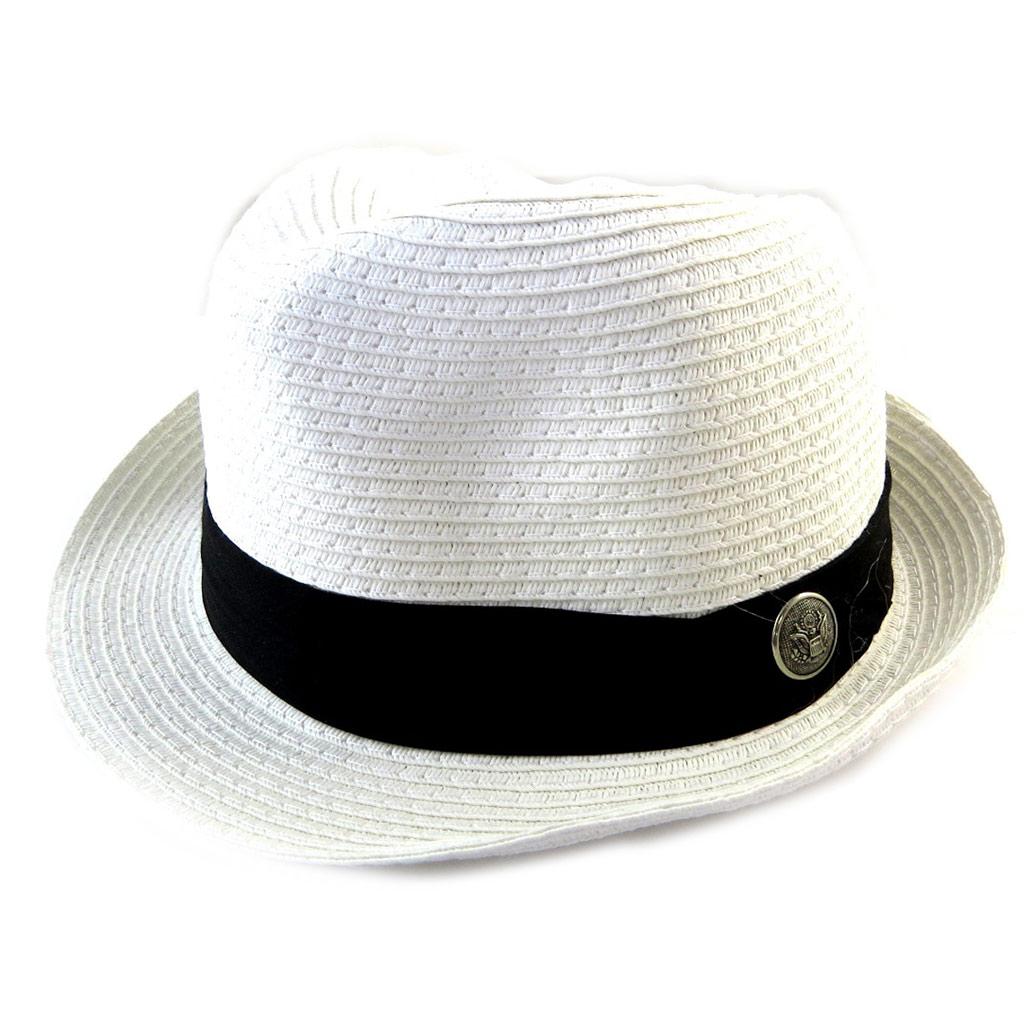 Borsalino \'Giovanny\' blanc (paille) - [N5870]