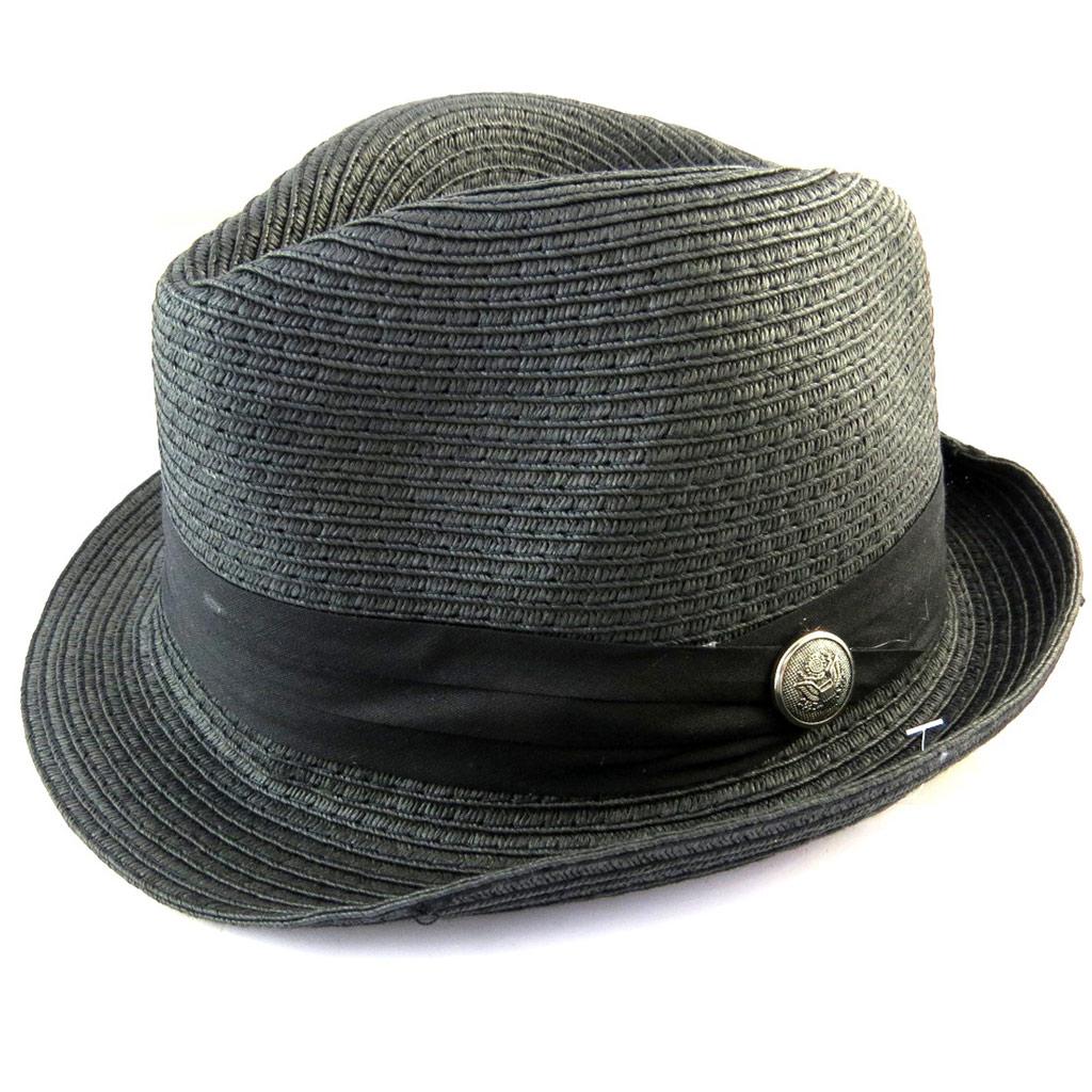 Borsalino \'Giovanny\' noir (paille) - [N5872]
