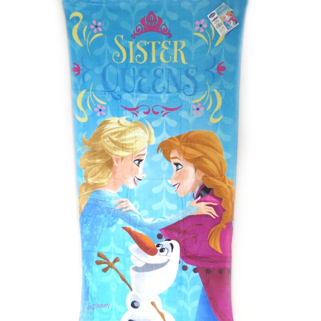 Drap de plage \'Frozen - Reine des Neiges\' bleu (70x140 cm) Sister Queens - [M5710]