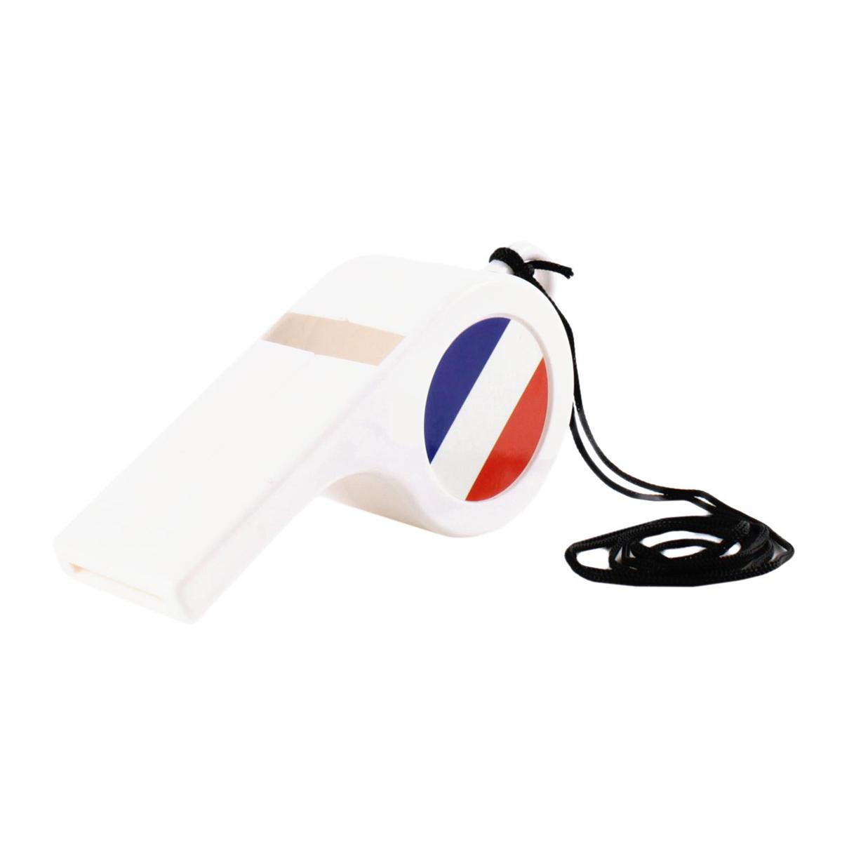 Sifflet géant \'France Cocorico\' blanc tricolore - 15x65x45 cm - [Q0806]