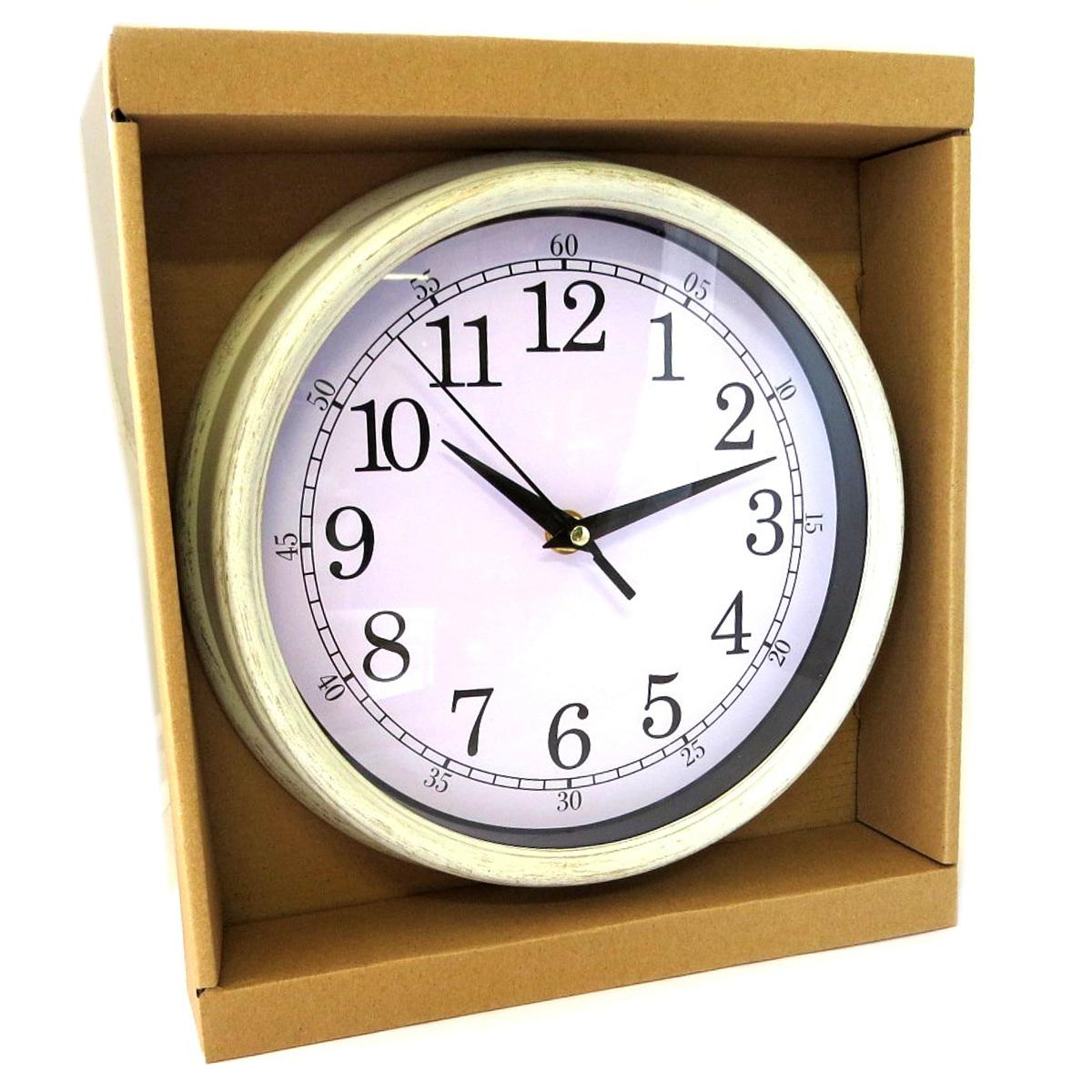 Horloge Murale \'Vintage Design\' beige - 22x45 cm - [Q0831]