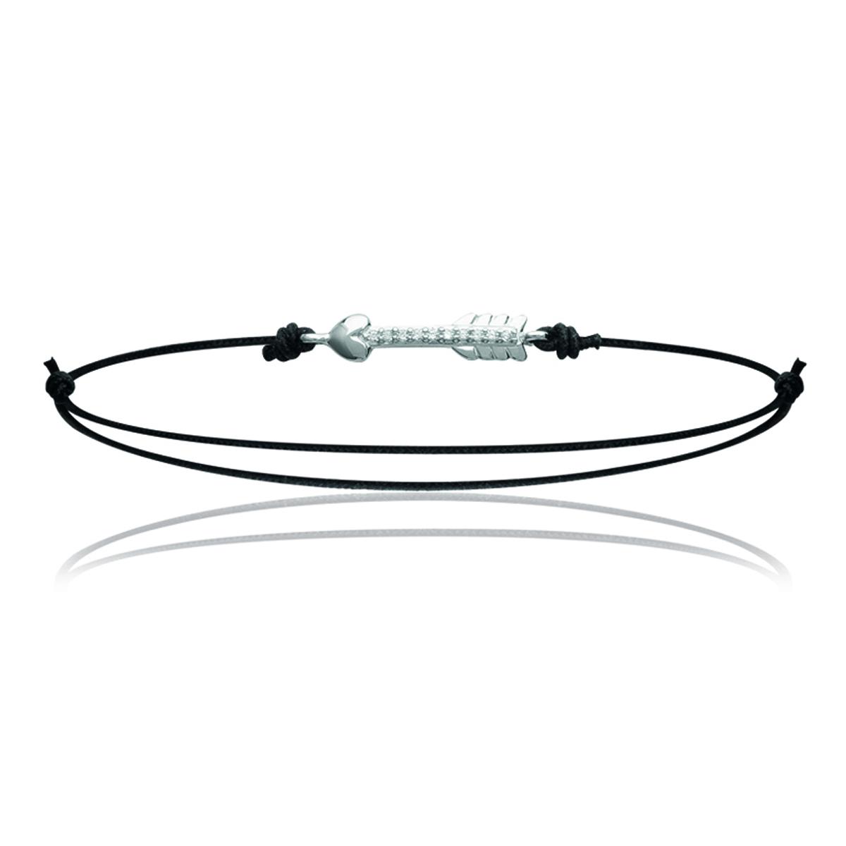 Bracelet Argent \'Cupidon\' argenté noir (rhodié) - 20x3 mm - [K5879]