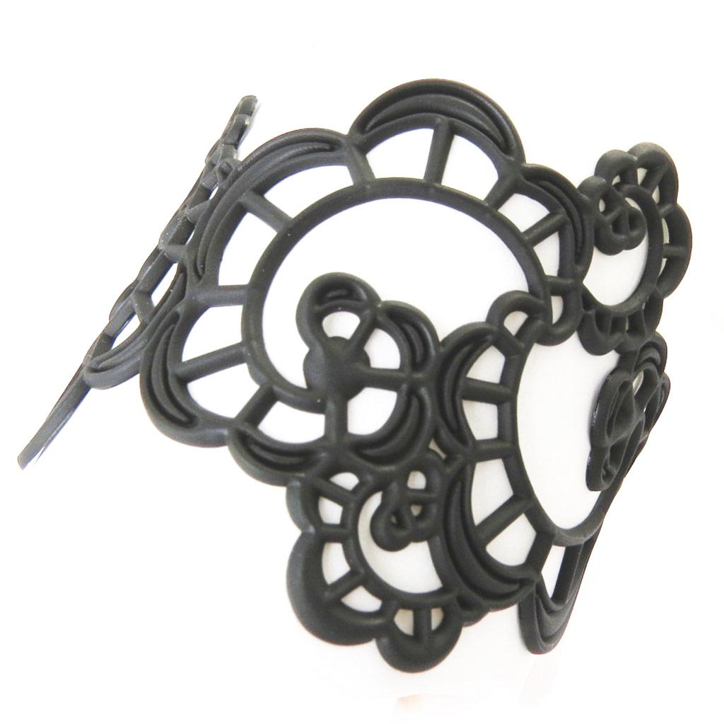 Bracelet Créateur \'Batucada\' noir (Japanese Flower)  - [P0690]
