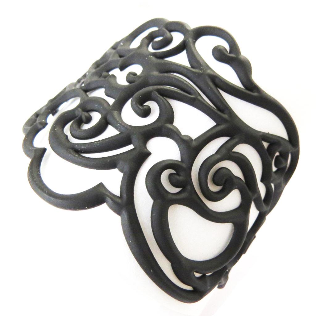 Bracelet Créateur \'Batucada\' noir (Clouds)  - [P0693]