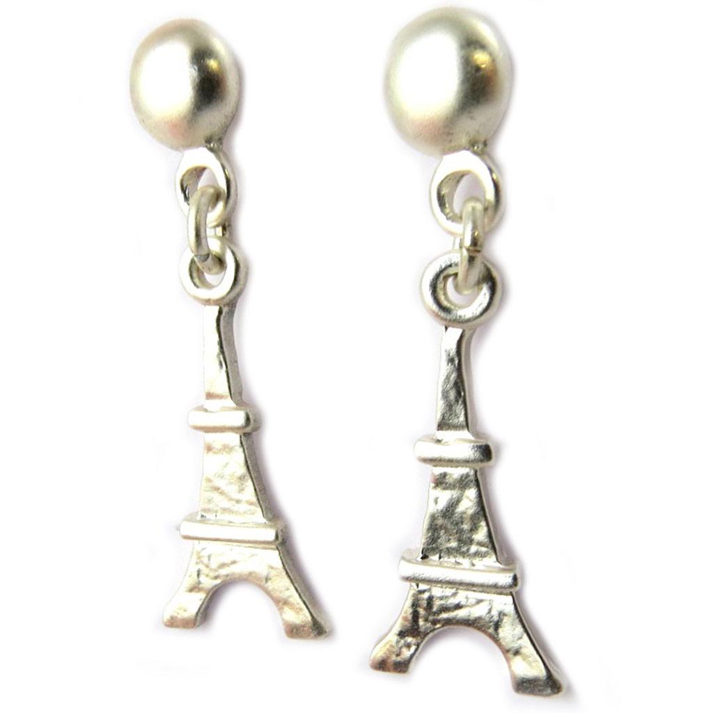 Boucles Créateur \'Tour Eiffel\' argenté - [P0730]
