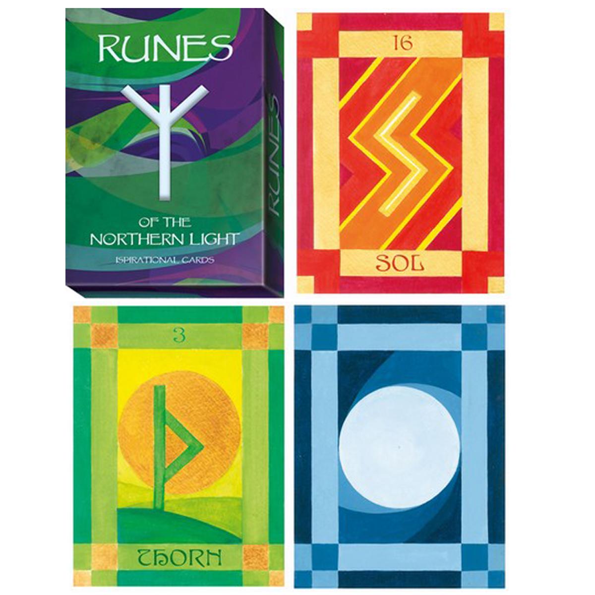 Jeu de cartes \'Runes\' multicolore - 135x10x3 cm - [Q9799]