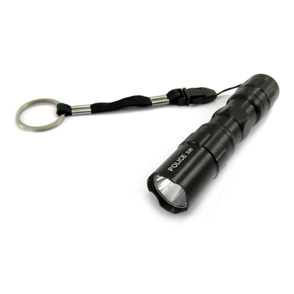 Mini lampe torche \'Design\' noir - [K6146]