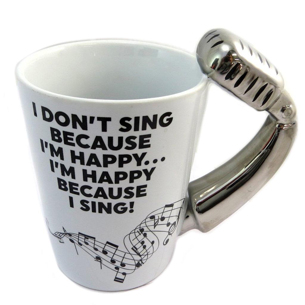 Mug céramique \'Musicology\' blanc argenté (Micro) - 135x125 cm - [P4179]