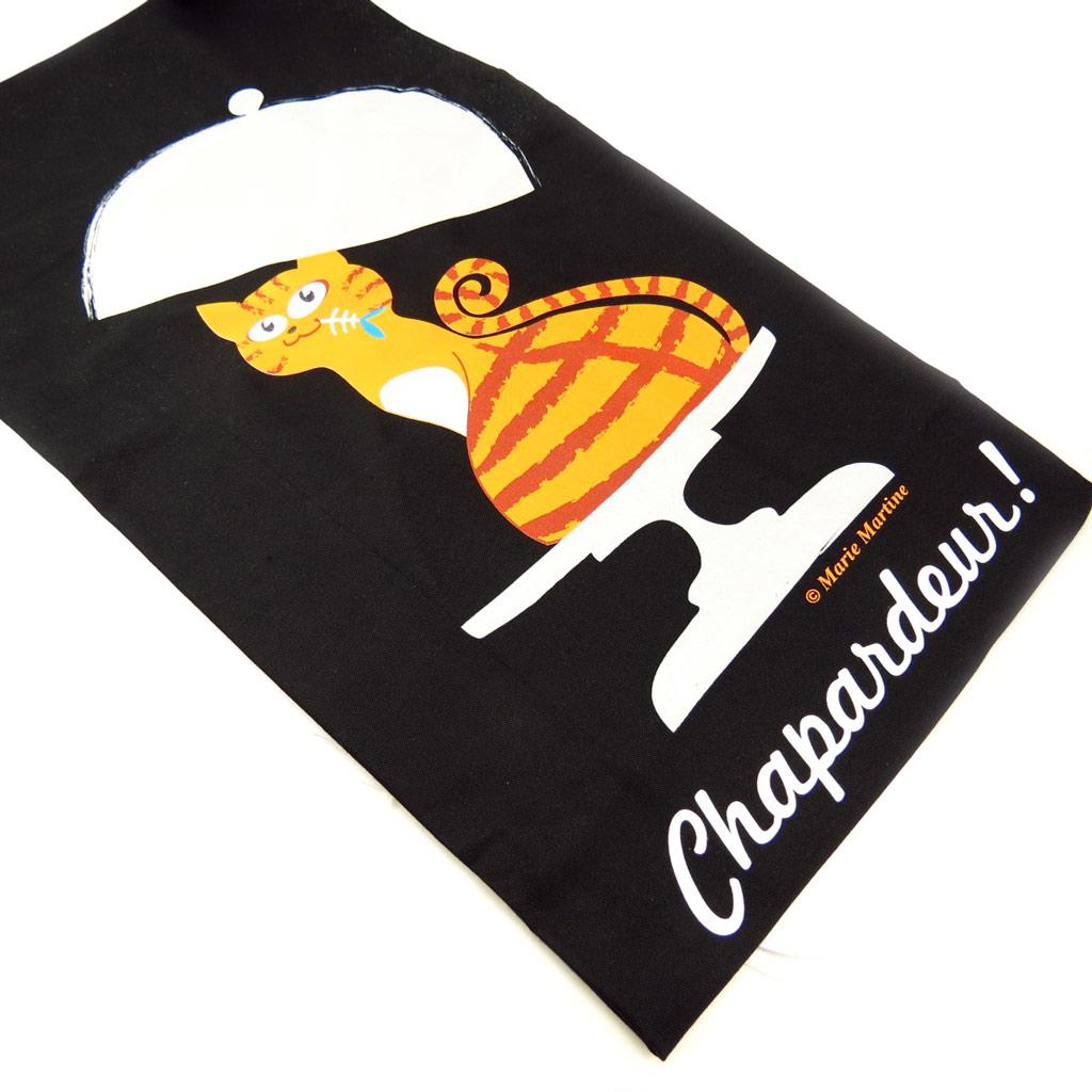 Tablier créateur \'Chapardeur\' noir - [K6229]