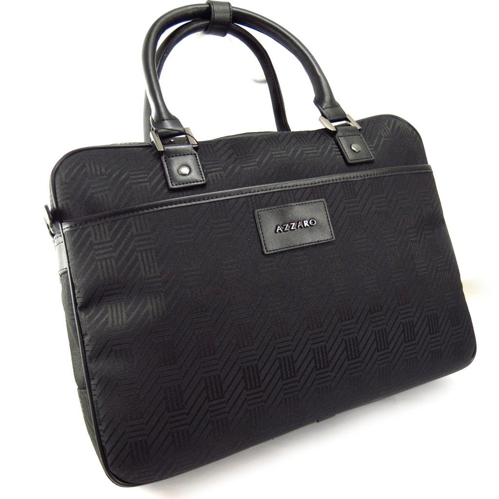 Sac business, porte-ordinateur \'Azzaro\' noir (special ordinateur 15\') - [K6255]