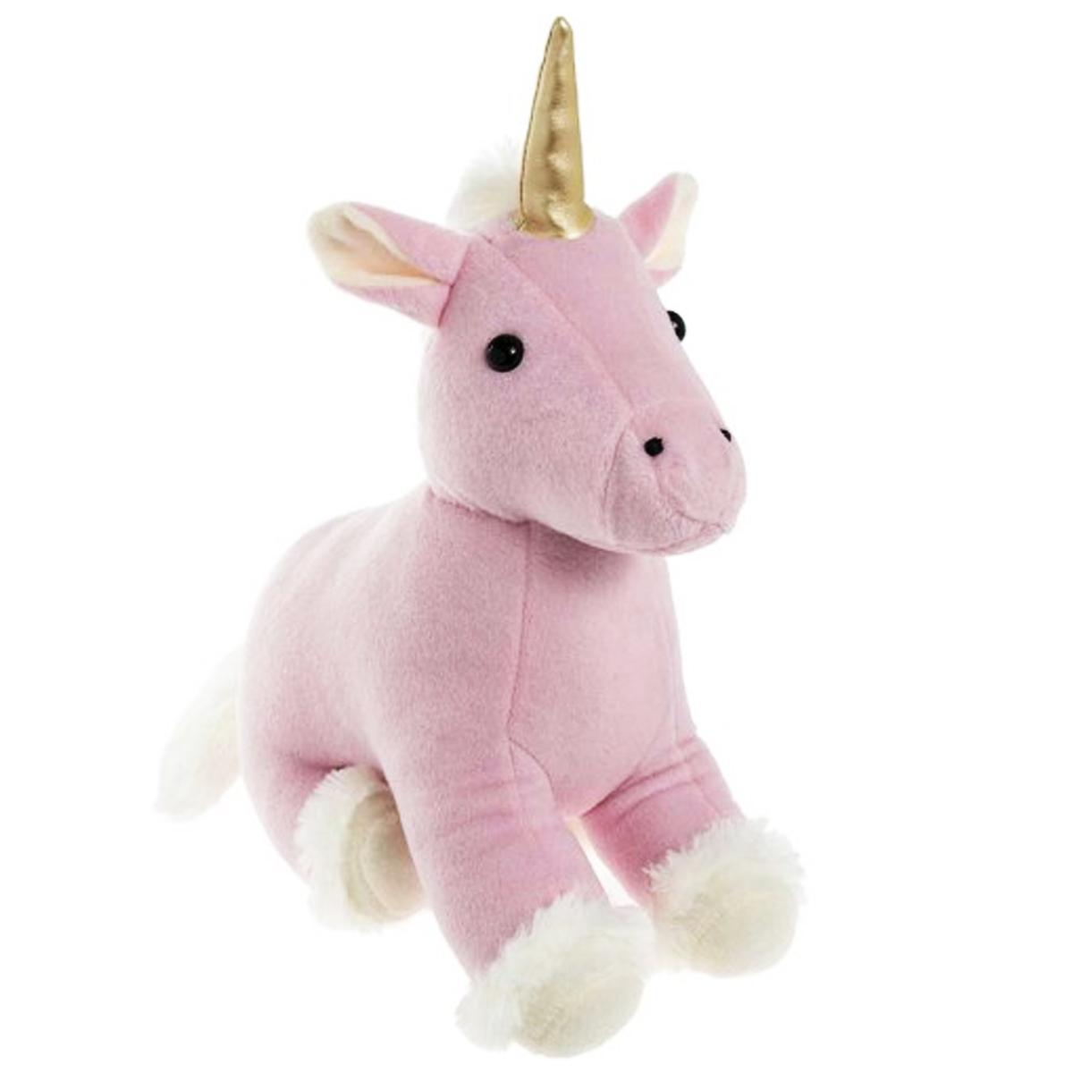 Peluche Cale porte \'Licorne My Unicorn\' rose - 36x30x12 cm - [Q0837]