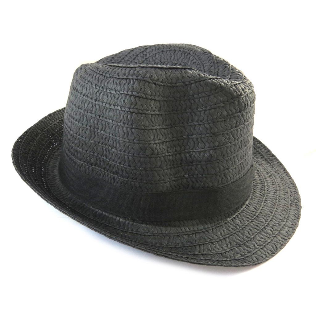 Borsalino \'Giovanny\' noir (paille) - [N5875]