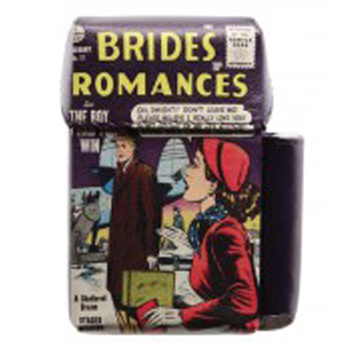 Etui paquet de cigarettes \'Bandes Dessinées\' vintage (Brides Romances) - 93x55x25 mm - [Q3067]