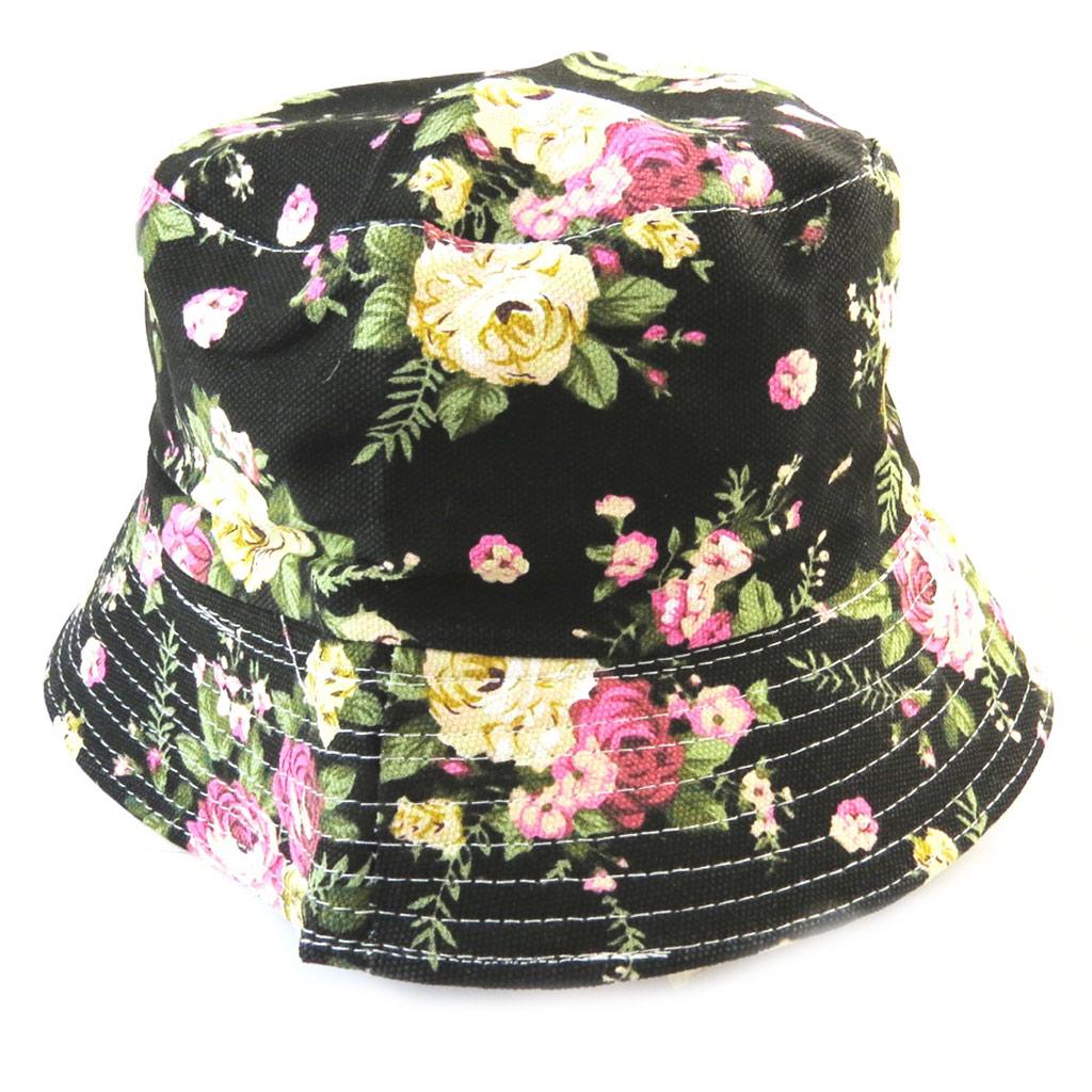 Chapeau Bob \'Liberty\' noir multicolore - [N5879]