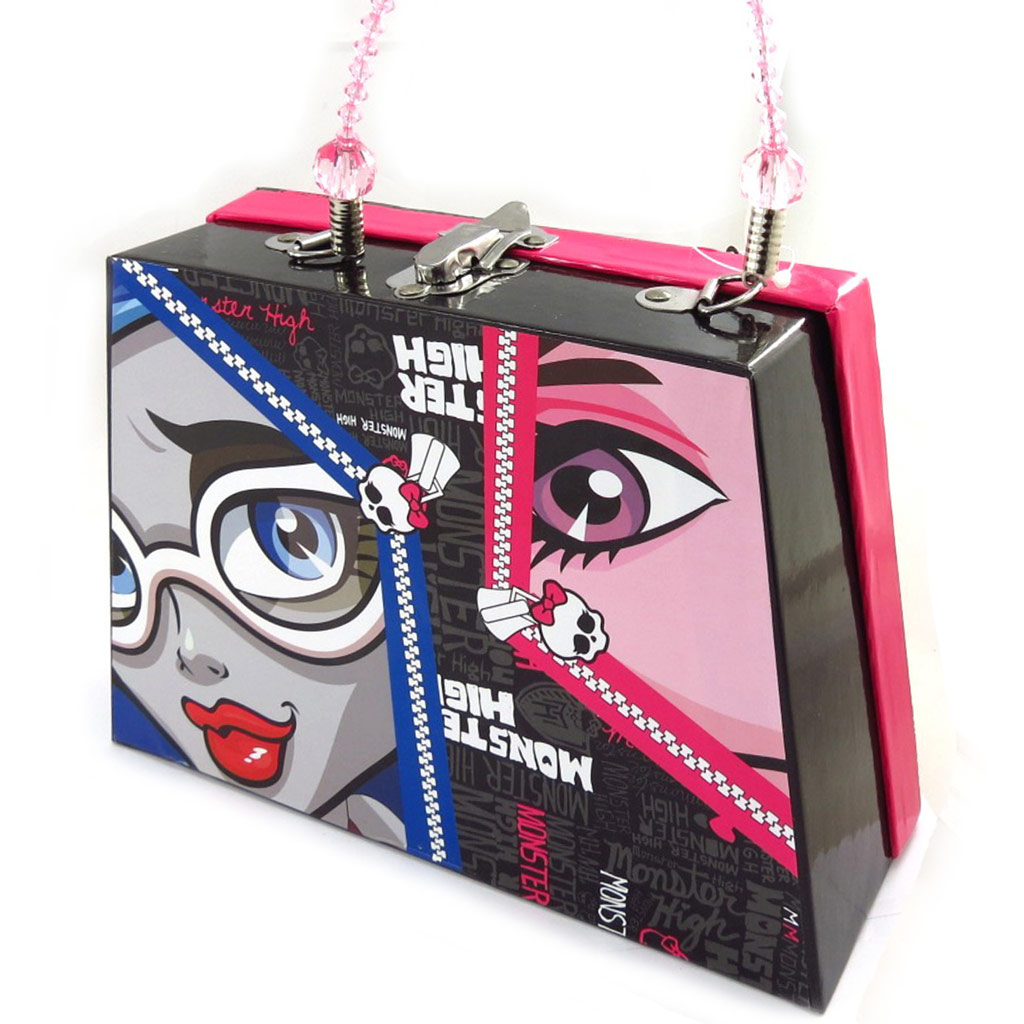 Valisette sac à main \'Monster High\' noir rose  - [K2337]