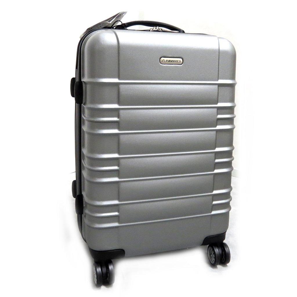 Valise trolley polycarbonate \'Escapade\' gris argenté (66 cm) - [L9964]