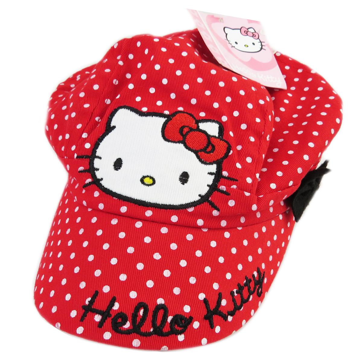 Casquette Enfant \'Hello Kitty\' rouge - [R2338]