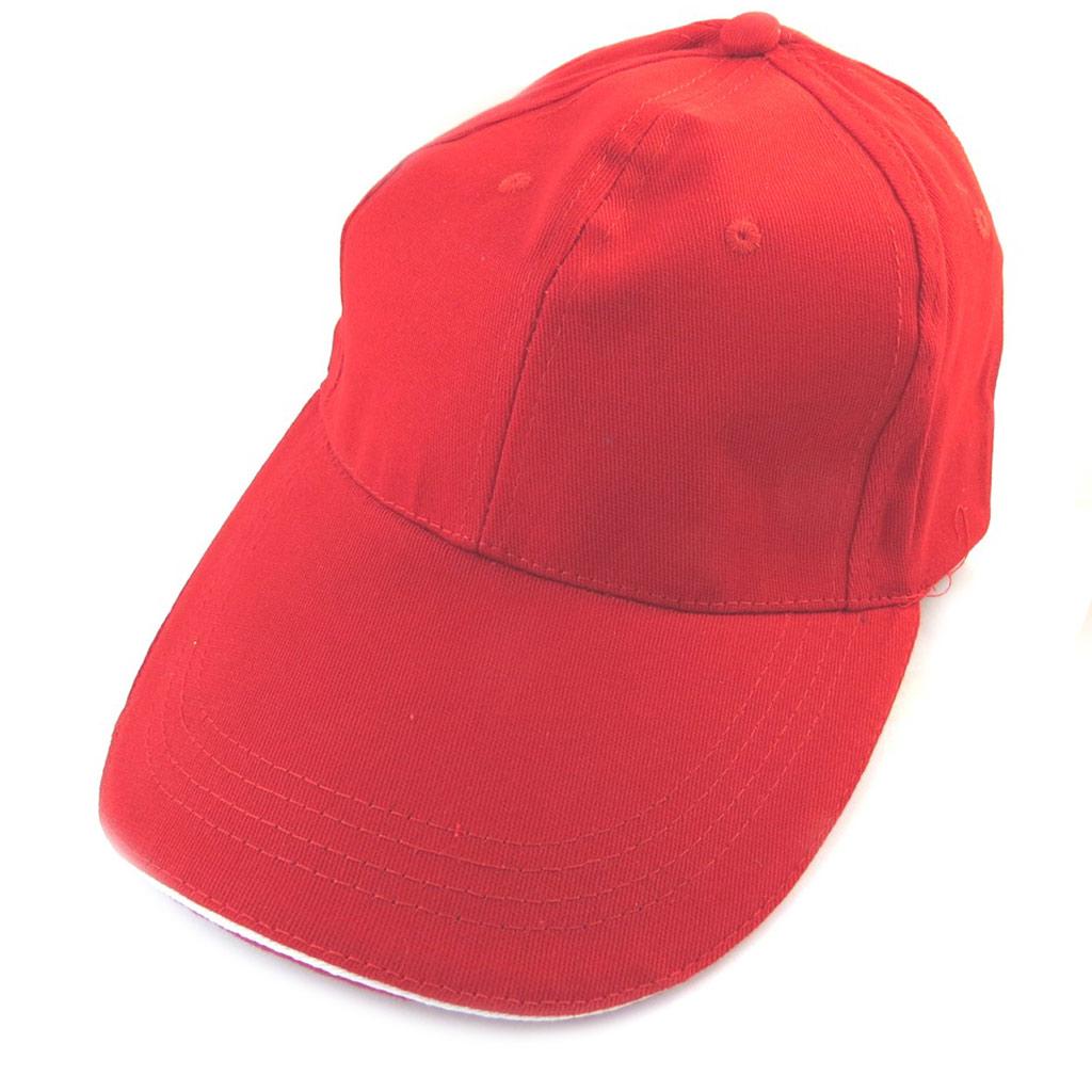 Casquette coton \'Casual\' rouge - [N5896]