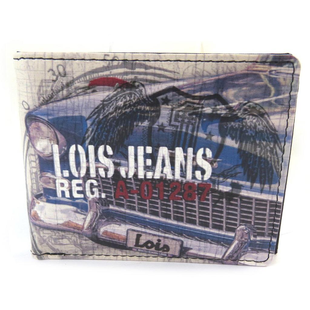 Portefeuille italien \'Lois Jean\' multicolore (voiture vintage) - 11x9x25 cm - [N5919]