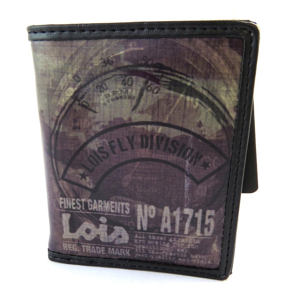 Portefeuille créateur \'Lois Jean\' marron vintage- 105x85x2 cm - [N5921]