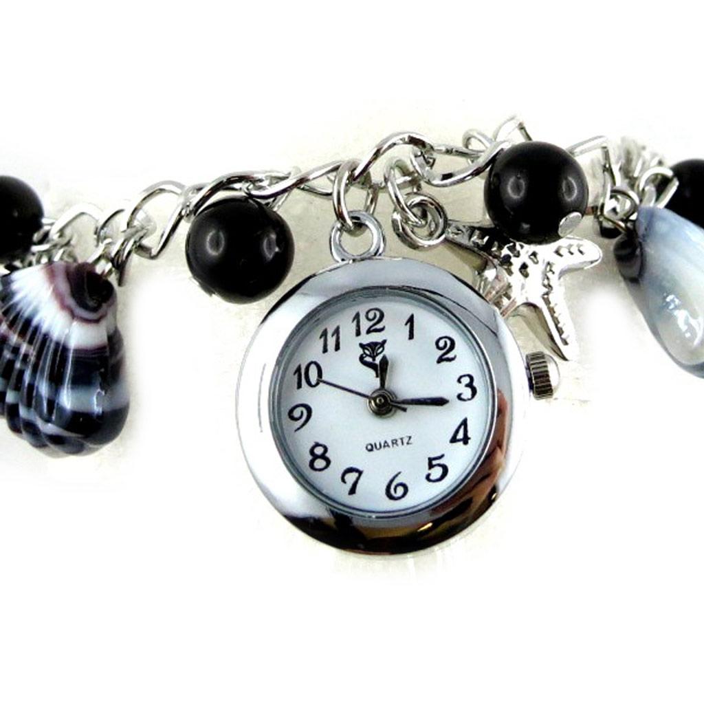 Montre bracelet \'Scarlett\' noir - [K8920]