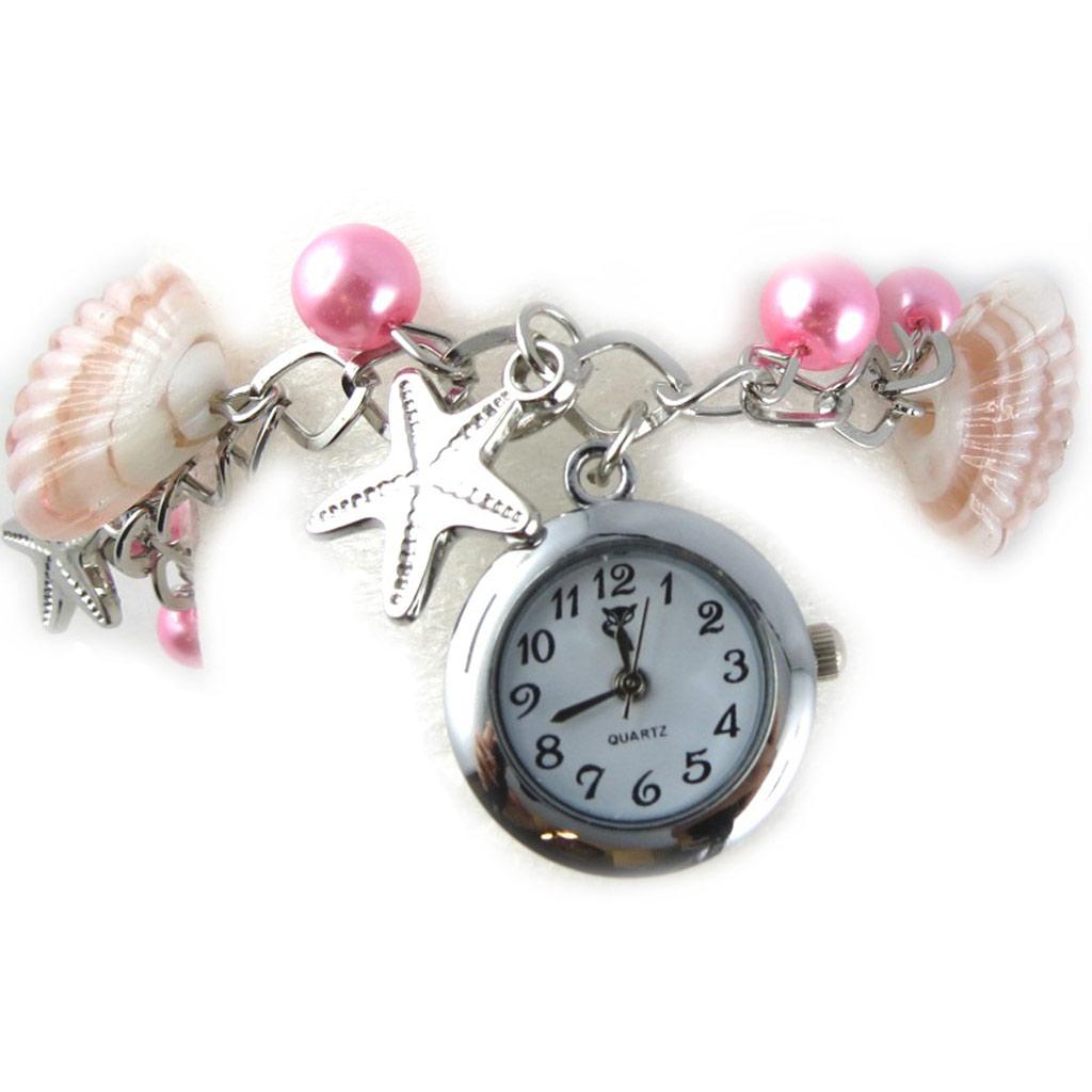 Montre bracelet \'Scarlett\' rose - [K8949]