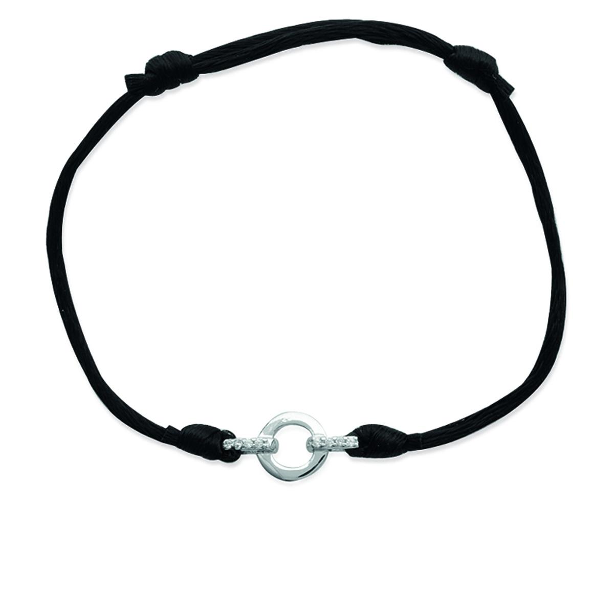 Bracelet Argent \'Déesse\' blanc argenté (rhodié) - 16x8 mm - [M7344]