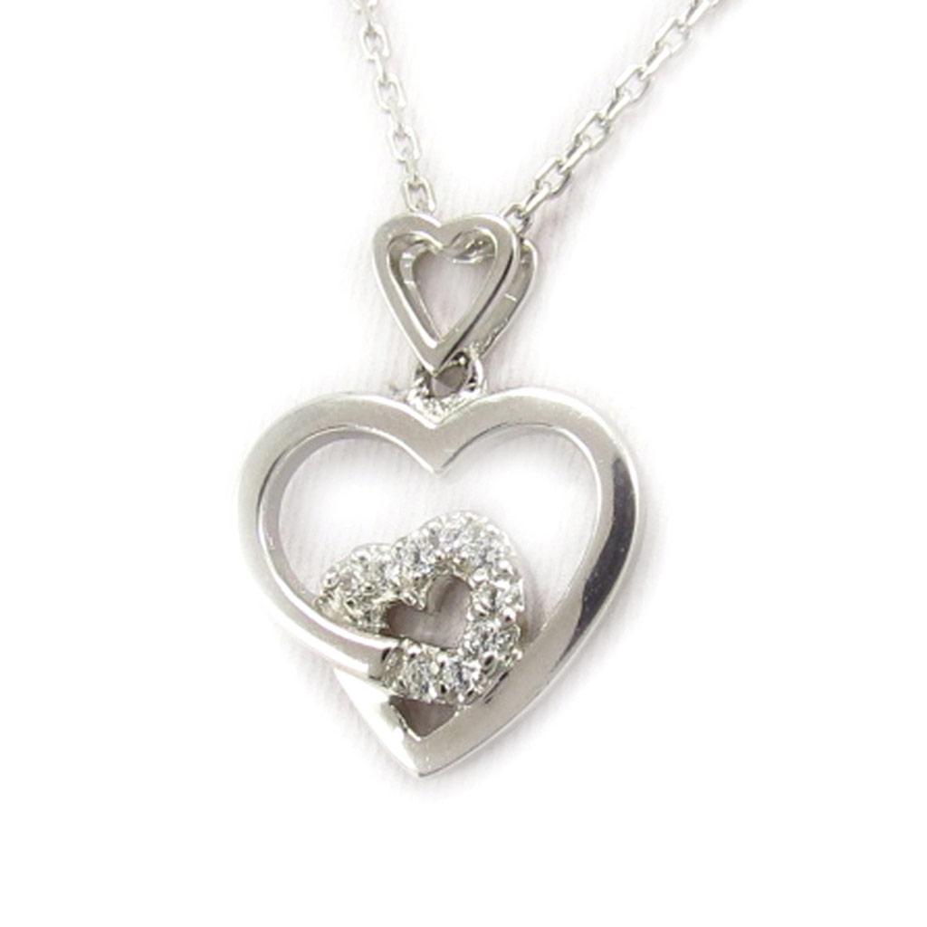 Collier argent \'Love\' blanc - [K6392]