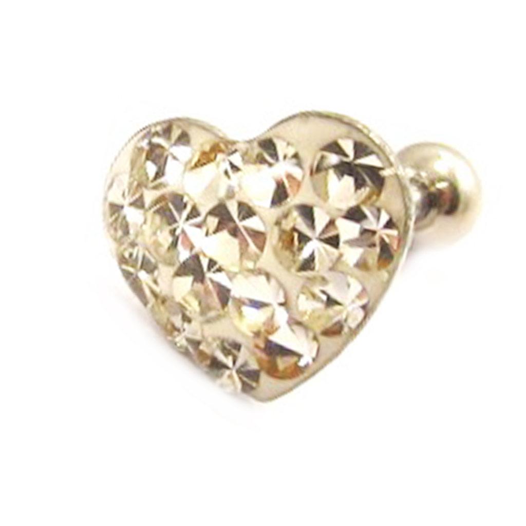 Micro barbell \'Love\' blanc (tragus) - [L4479]
