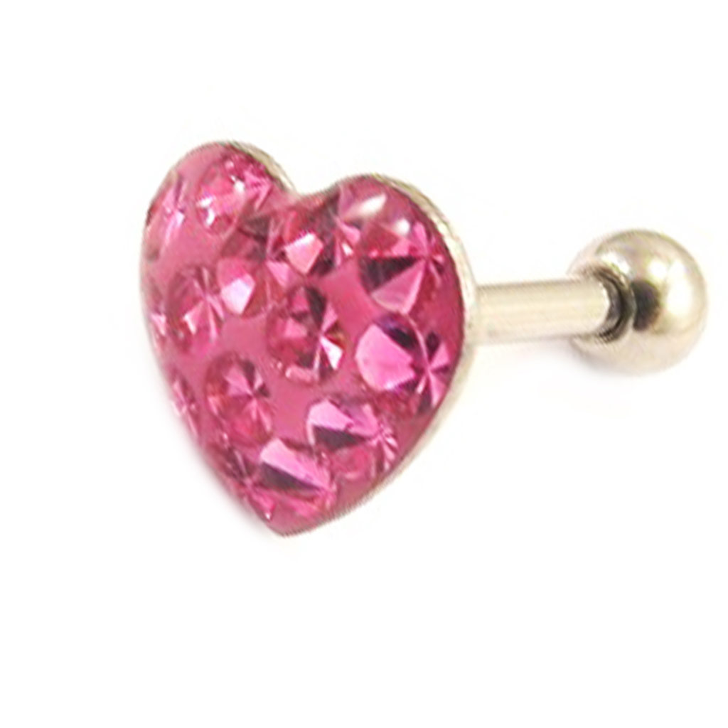 Micro barbell \'Love\' rose (tragus) - [L4481]