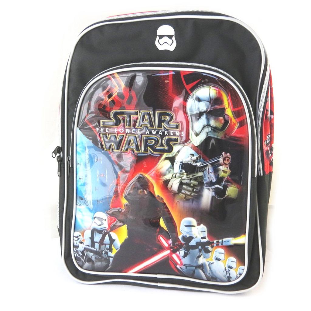 Sac à dos enfant \'Star Wars\' noir multicolore - 42x34x14 cm - [N6029]