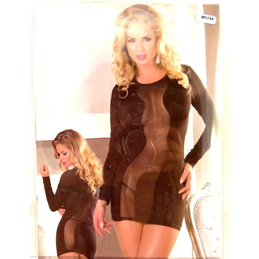 Robe sexy \'Scarlett\' noir  - [M5744]