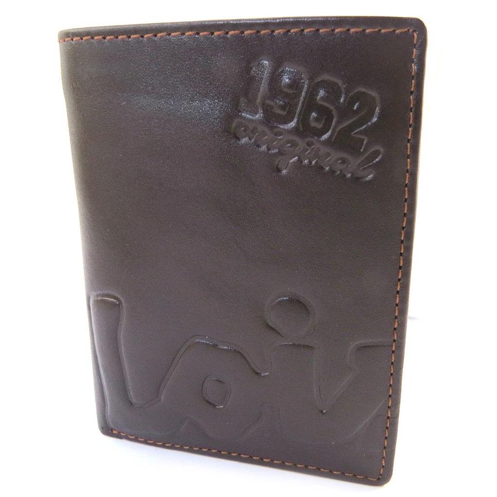 Portefeuille européen cuir \'Lois Jean\' marron (11x85x2 cm) - [M7371]