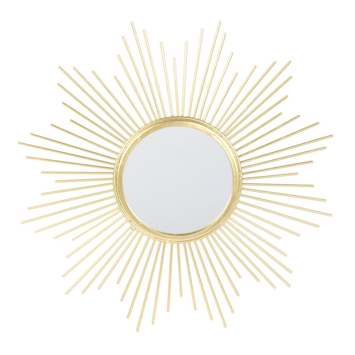 Miroir métal \'Soleil\' doré - 195 cm - [R2359]