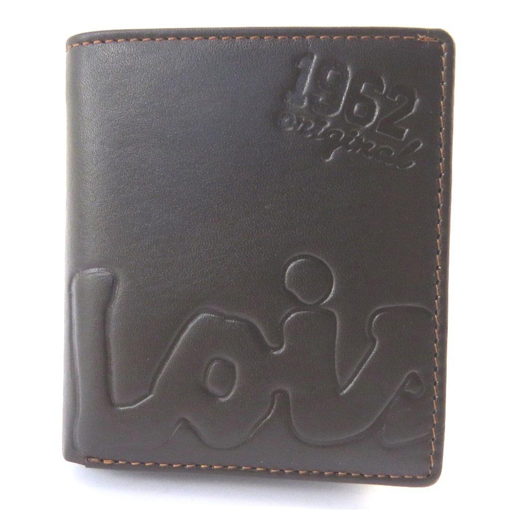 Portefeuille cuir \'Lois Jean\' marron (10x9x2 cm) - [M7378]