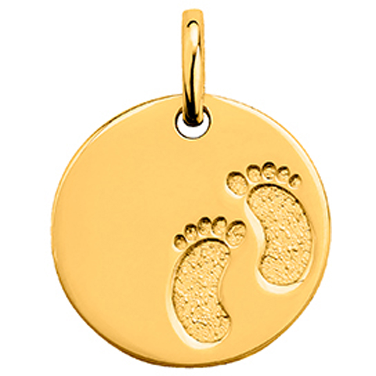 Médaille plaqué or \'Pieds\' (17 mm) - [N5042]