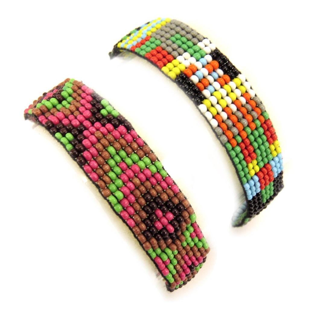 2 bracelets ethniques \'Katmandou\' tutti frutti - [L1603]