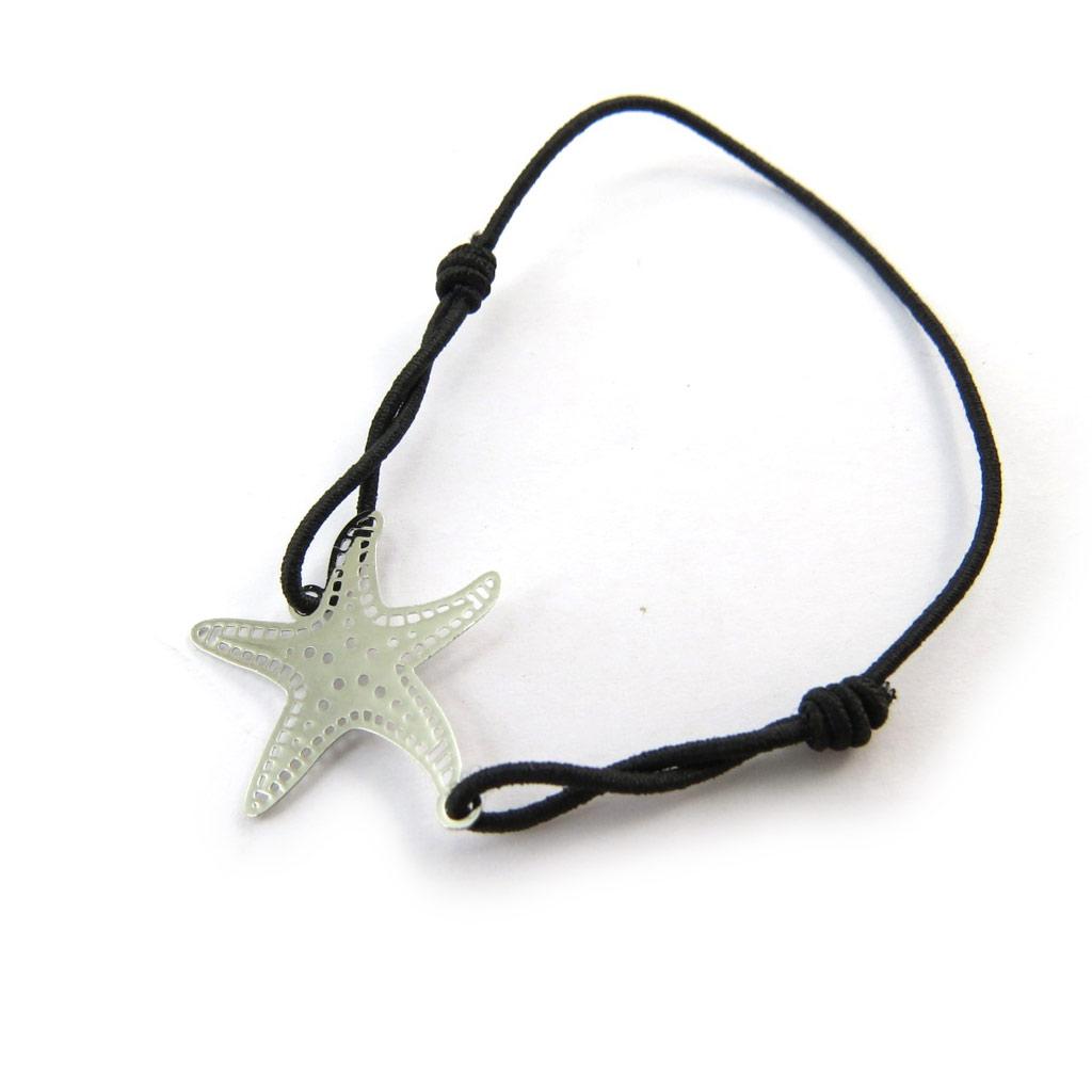 Bracelet fantaisie \'Carmen\' argenté (étoile des mers) - [N5048]