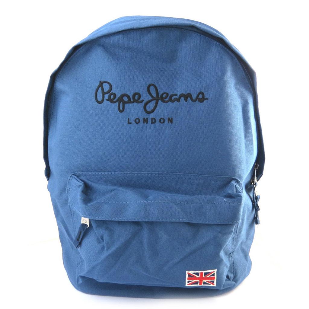 Sac à dos \'Pepe Jeans\' bleu (42x30x16 cm) - [M7410]