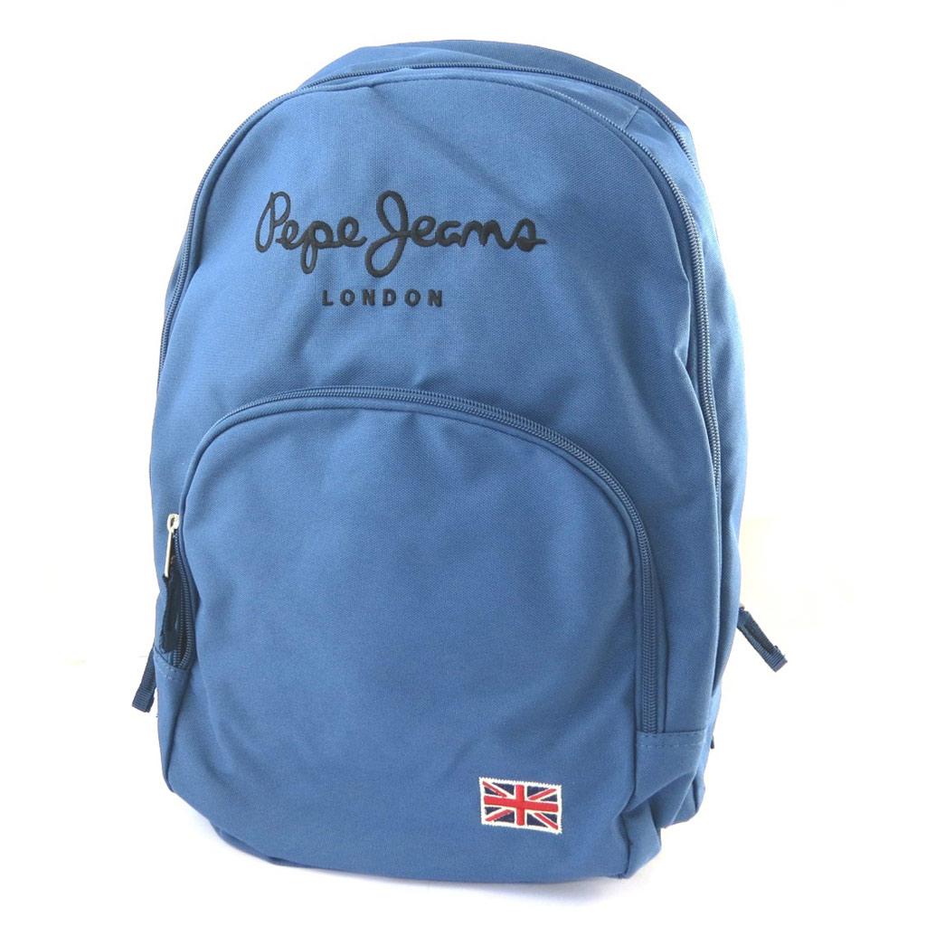 Sac à dos double \'Pepe Jeans\' bleu (42x32x22 cm) - [M7411]