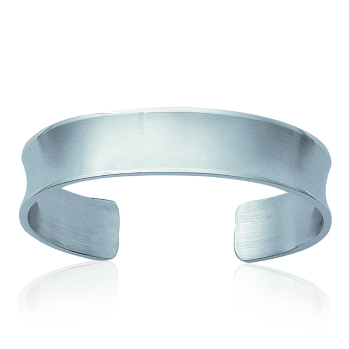 Bracelet Acier \'Chorégraphie\' argenté - 14 mm - [G7824]