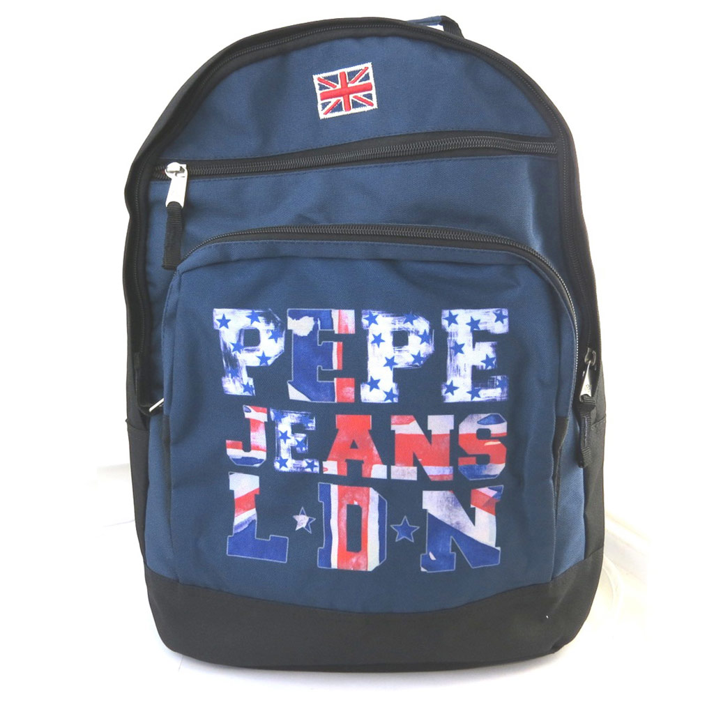 Sac à dos double \'Pepe Jeans\' marine - union jack (44x32x23 cm) - [M7413]